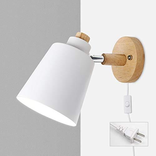 lámpara de pared Lámpara De Pared Nórdica Con Interruptor Lámpara De Pared De Hierro E27 Macaron Lámpara De Pared De Cabecera De 6 Colores Lámpara De Pared Con Enchufe Europeo/Estadounidense