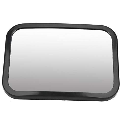 Vista trasera para bebés ABS ajustable ajustable Espejo de coche para bebé Superficie abombada para vista trasera para bebés(black, Reverse mirror)