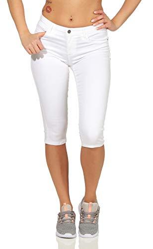 Only Onlrain Reg SK Knickers Pnt Cry9090 Pantalones Cortos, Blanco (White White), 40 (Talla del Fabricante: Medium) para Mujer