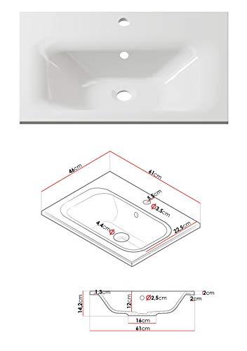 Badmöbel Set Porto  Waschbecken  Siphon Bild 4*
