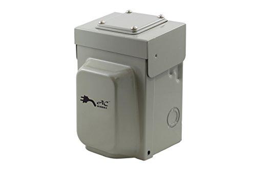 AC WORKS Super Durable Industrial Grade Locking Power Input Inlet (L14-30 Metal Box)
