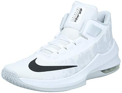 Nike Air MAX Infuriate 2 Mid, Zapatos de Baloncesto para Hombre, Blanco (White/Black/Pure Platinum 100), 46 EU