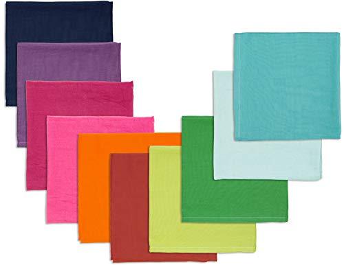 Bio Spieltücher 100% Bio-Baumwolle (kbA) GOTS zertifiziert, Bunt, 115 x 105 cm, 10er-Set