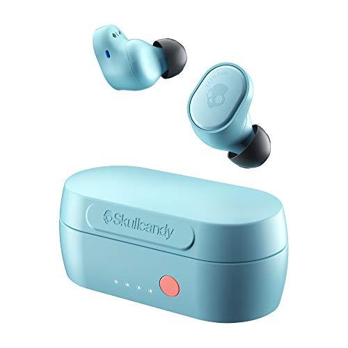 Auriculares Inalámbricos Skullcandy Sesh EVO True Wireless, con Bluetooth Incorporado, Resistentes al Sudor, al Agua y al Polvo, Batería de hasta 24 Horas de Duración Total - Azul