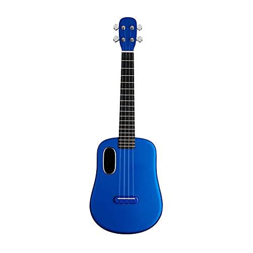 KEPOHK Ukelele de fibra de carbono 23/26 pulgadas Guitarra eléctrica de viaje pequeña para niños principiantes con estuche/púas 23 pulgadas Sea-Blue
