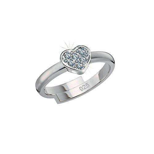 SCOUT Kinder-Ring 925 Silber rhodiniert Zirkonia weiß Ringgröße verstellbar - 263013100