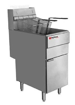 Cecilware FMS504 Commercial Heavy Duty 50 lbs Natural Gas Deep Fryer