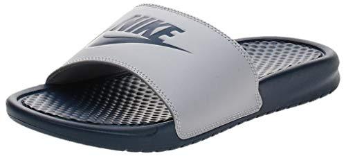 Nike Herren Benassi JDI Dusch-& Badeschuhe, Mehrfarbig (Wolf Grey/Midnight Navy 024), 42.5 EU