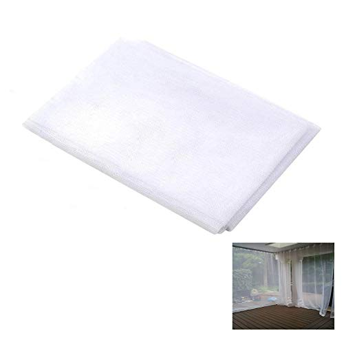 Ecover Mosquito Net DIY Fabric Insect Pest Barrier Netting Curtains for Home/Travel/Camping, 60' x 5yard, White