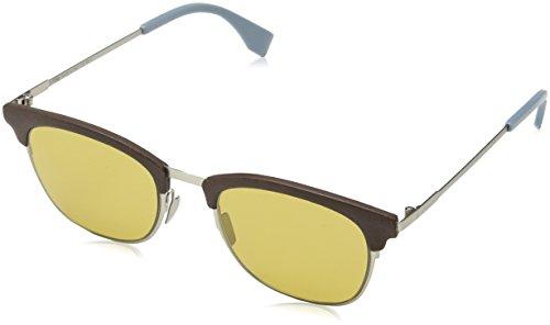 FENDI FF 0228/S 70 4ES Gafas de Sol, Marrón (Silv Brown/Brown), 50 para Hombre
