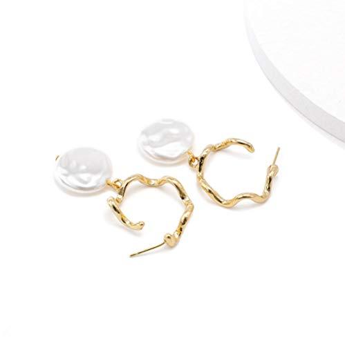 Vvff Pendientes Pendientes Colgantes Geométricos De Metal De Perlas Irregulares Para Joyería De Mujer