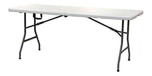 Orework 356823 Mesa Plegable Ligera 152 x 70 x 74 cm, Blanco