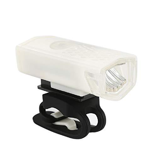 SHANGH USB Recargable 300 Lúmenes 3 Modos de Faro Delantero de Bicicleta Impermeable Luz de Seguridad de Ciclismo de Carretera de Montaña Linterna de Advertencia de Bicicleta Luz de