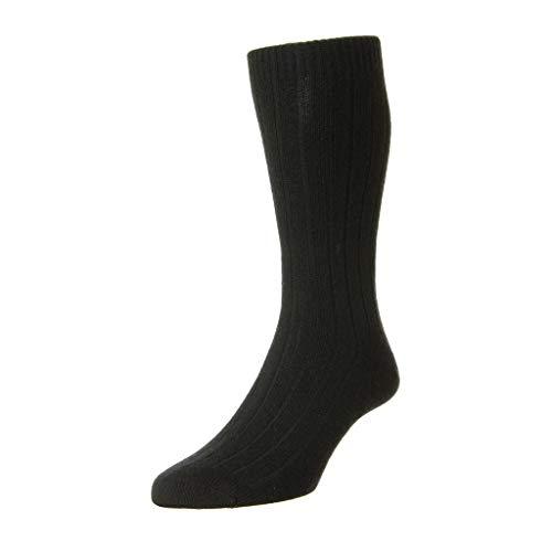 Pantherella Herren Waddington Lssige Socken, schwarz, Medium