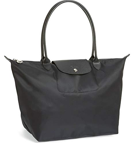 Longchamp 'Large Le Pliage Neo' Nylon Tote Shoulder Bag, Black