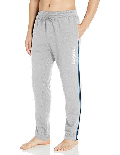 Original Penguin Men's Loungewear Logo Knit Pant, Light Grey Heather, L
