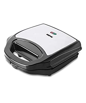 Geepas 2 Slice Sandwich Toaster | Non-Stick Plates Grill Maker & Griddle Toasty Maker | Stainless Steel Panini Press, Cord-Warp for Storage | Ideal for Breakfast | 700W | 2 Year Warranty