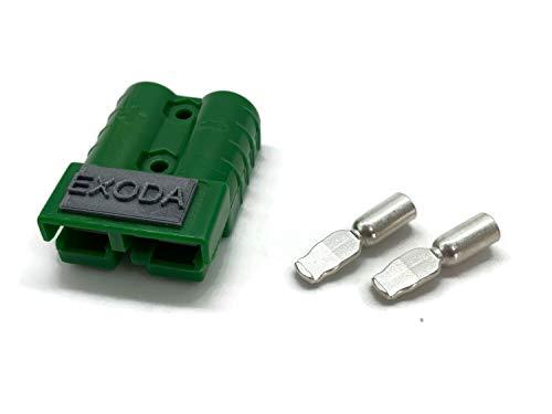 Conector de la batería 50A 4-6 mm2 verde Conector de la carretilla elevadora Cable