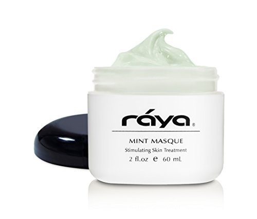 RAYA Mint Masque (603) | Cooling and Refreshing Facial Treatment Mask for Combination, Partially Oily, and Break-Out Skin | Minimizes Pores and Refines Complexion
