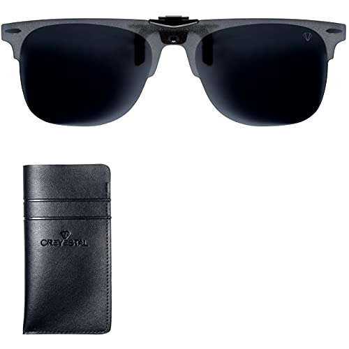 CREYESTAL Clip Gafas de Sol Polarizadas, Clip para Gafas...