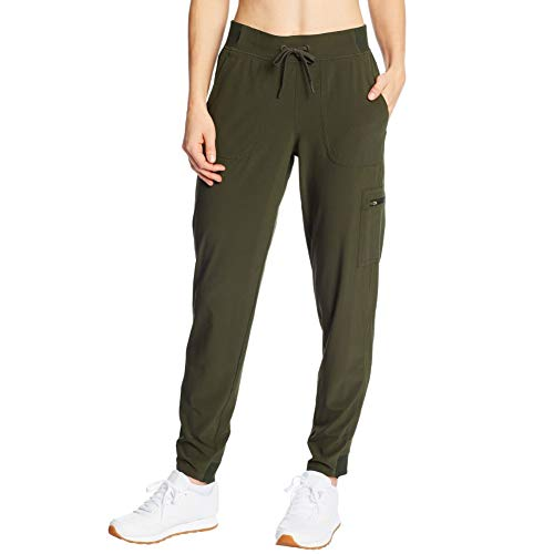 C9 Champion Pantalones de Entrenamiento Tejidos para Mujer, Verde Botella, S