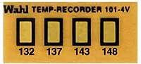 Wahl Instruments 真空用テンプ・プレート(不可逆性) 4点表示 101-4V-132