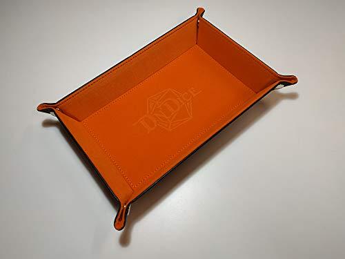 DnDice Foldable Dice Tray (Orange)