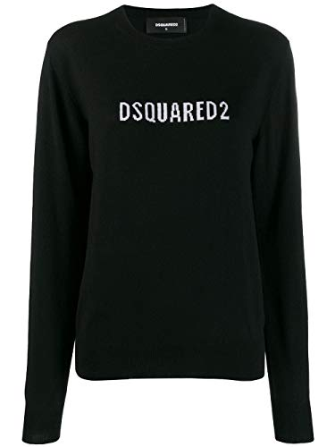 Luxury Fashion | Dsquared2 Dames S72HA0866S16813965 Zwart Wol Truien | Herfst-winter 19