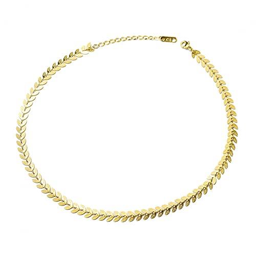 YQMJLF Collar Moda Accesorios Mujer Collares Collar Cola Fénix Hoja Oreja Trigo Natural a la Moda, Conjunto Pendientes Perlas imitación, preservación del Color Acero Titanio