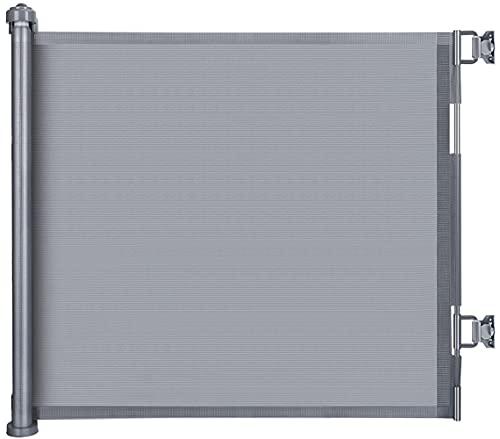 LSZE Treppenschutzgitter Ausziehbar Türschutzgitter 0-150 cm Einziehbares Tür- und Treppengitter für Babys und Haustiere Baby Absperrgitter Ausziehbar geeignet für Innen- und Außenbereich Grau