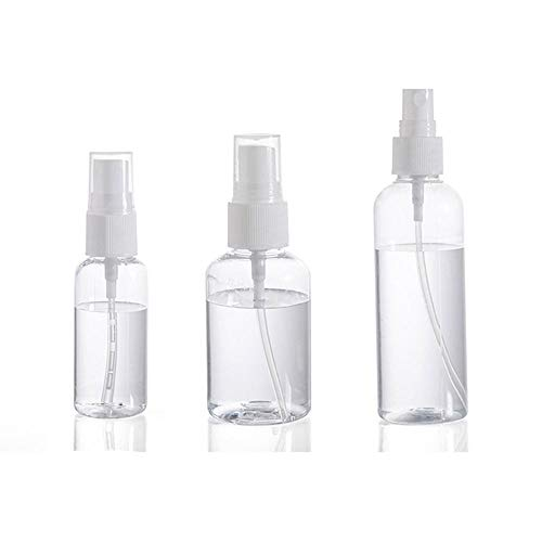 XMBT Plastic Spray Bottle Travel Makeup and Skin Care Refillable Bottle Transparent Plastic Perfume Spray Bottle