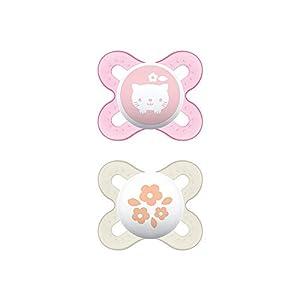 MAM Chupete Start S152 - Chupete extra pequeño para Recién Nacidos, Silicona SkinSoftTM ultrasuave, para Bebés de 0 a 2 meses, Rosa (2 unidades) con caja auto Esterilizable, Versión Española