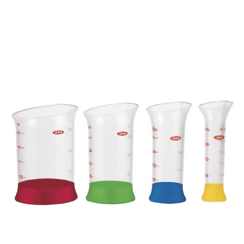 OXO 1245380 Good Grips 4-Piece Mini Measuring Beaker Set,Clear