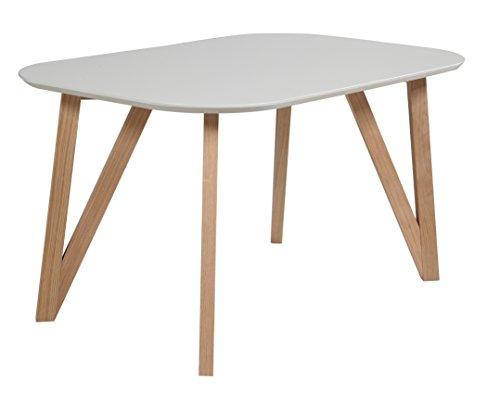 SalesFever Esszimmertisch Aino, Küchentisch in grau, 140 x 90 cm, furnierter Esstisch, pflegeleichter & Abgerundeter Holz-Tisch, FSC® Zertifiziert