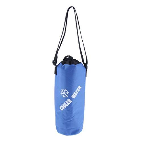 Hellery Borsa Termica per Bottiglia ISOLATA - Porta Bevande da Campeggio/Borsa Termica per Vino - Blu, 28,5 Centimetri