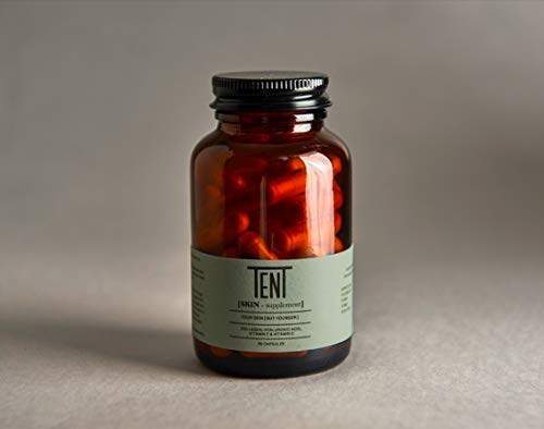 Tent Nutrition [Skin-Supplement] Anti- Ageing Supplement: Marine Collagen, Hyaluronic Acid, Vitamin E & Vitamin C