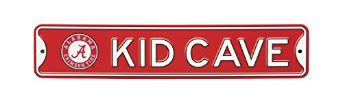 Authentic Street Signs NCAA College Officially Licensed Steel Kid Cave Sign-Decor for Sports Fan Bed Room! … (Alabama Crimson Tide)