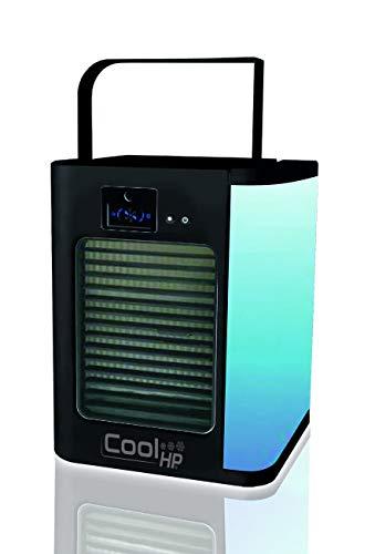 BEST DIRECT Cool HP Black Original comme vu à la TV Raffraichisseur d'air Mini Ventilateur à 3 Vitesses Filtre à air Humidifcateur avec Reservoir d'ea
