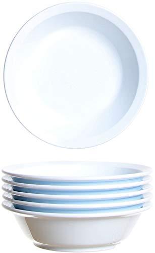 idea-station Gastro Kunststoff-Schalen 6 Stück, 14 cm, 200 ml, weiß, mehrweg, bruchsicher, rund