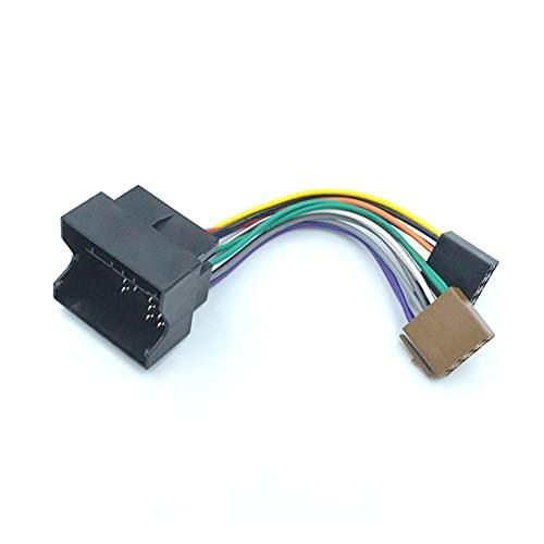 ZhiDuoXing Adaptador de arnés de cableado de Radio estéreo ISO para Coche/Apto para -Volkswagen Golf Passat Bora/Fox Tiguan/Skoda/Audi /