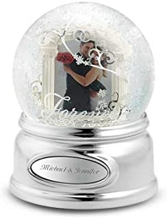 Things Remembered Personalized Forever Wedding Photo Musical Snow Globe with Engraving Included