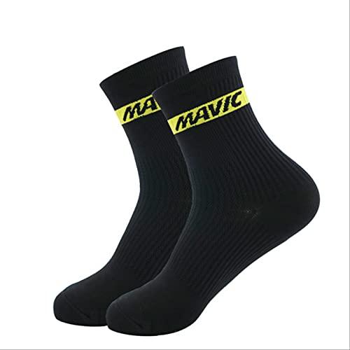 PPaoteman Calcetines De Ciclismo para Hombre Calcetines Altos Altos para Bicicleta De Montaña Calcetines De Compresión para Deportes Al Aire Libre Calcetines para Correr