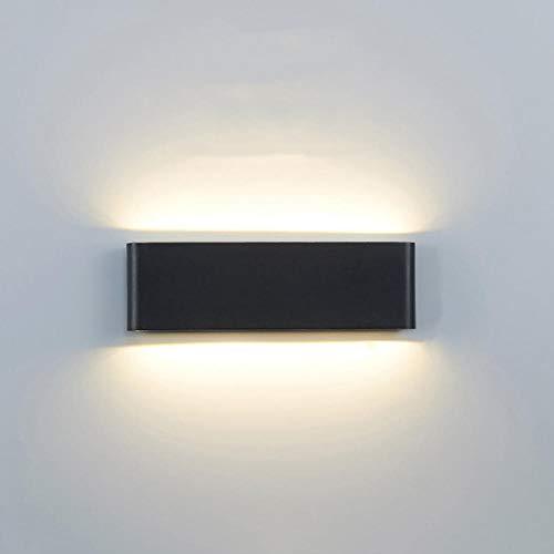 ML18@Cold White_6W SMALL_Black Tuinlamp voor buiten, eenvoudig, led, waterdicht, wandlamp voor tuin, aluminium, voor voordeur, hal, balkon, hal, zwart