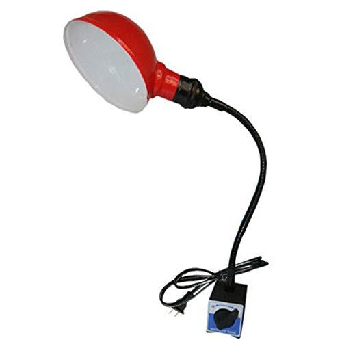Benfa Luz de Trabajo LED con Base de imán Redondo, lámpara a Prueba de Aceite a Prueba de Aceite de Ahorro de energía de 220 voltios 300 mm para máquinas Herramientas Taladro de molienda de Torno