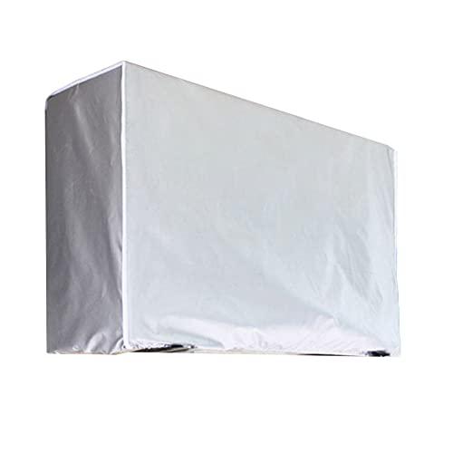 DirkFigge Copri Condizionatore da Esterno - Universale Coperchio del Condizionatore Teli Impermeabile, Anti-Neve, Anti-Polvere Copri Climatizzatore Esterno Protettori Coperture