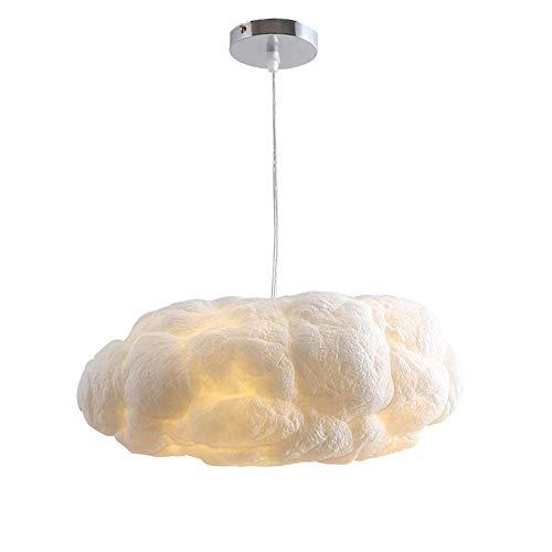 XXYHYQHJD Kinder Restaurante Lámpara Pendiente de la lámpara de la Tienda de Ropa Moderna Personalidad Flotante de Nubes Blancas de la lámpara Colgante de luz (Size : S)