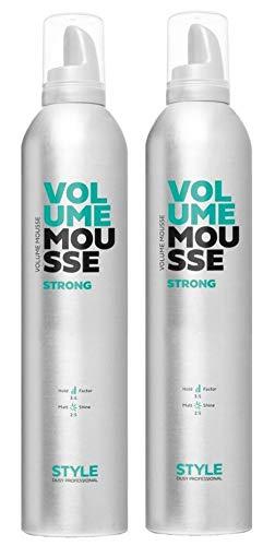Dusy Style Volume Mousse strong 400ml Schaumfestiger Stylingschaum Haarschaum (2 Stück)