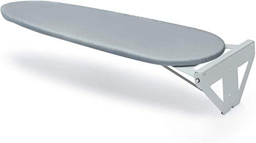 ybaymy Bügelbrett Wandmontage, Zusammenklappbares Bügelbrett, drehbar um 90 ° Wandbügelbrett klappbar mit Baumwollbezug, Platzsparend, Hitzebeständig, 1070mm x 300mm x 35mm