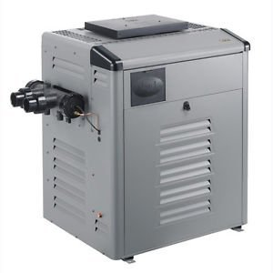Zodiac Legacy LRZ325MN Millivolt Analog Control 325K BTU Natural Gas Polymer Header Pool and Spa Heater