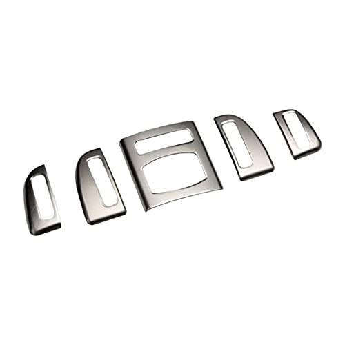 furong Coche de Acero Inoxidable Tablero Delantero Aire Acondicionado Aire Acondicionado Marco de ventilación Tiras de Ajuste Ajuste para BMW 5 Series F10 2011-2014 LHD (Color Name : Silver)